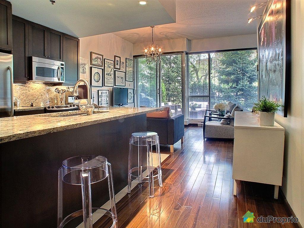 Condo vendu montr al immobilier qu bec duproprio 333205 for Couleur cuisine salon air ouverte