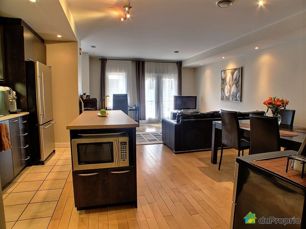 Condo vendu montr al immobilier qu bec duproprio 353219 for Couleur cuisine salon air ouverte