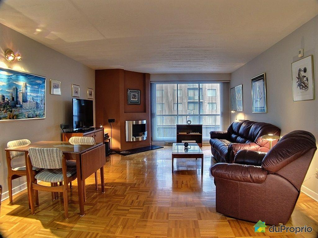 Condo vendu montr al immobilier qu bec duproprio 328835 - Salon et cuisine aire ouverte ...
