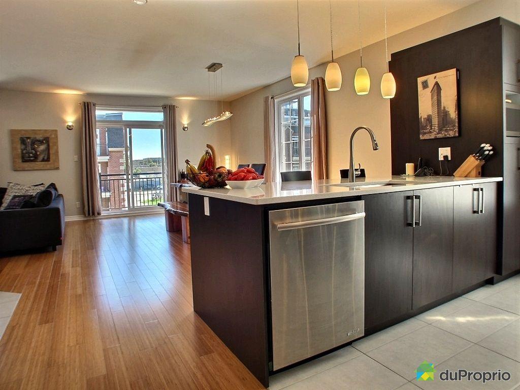 Condo vendu montr al immobilier qu bec duproprio 423944 - Cuisine aire ouverte ...