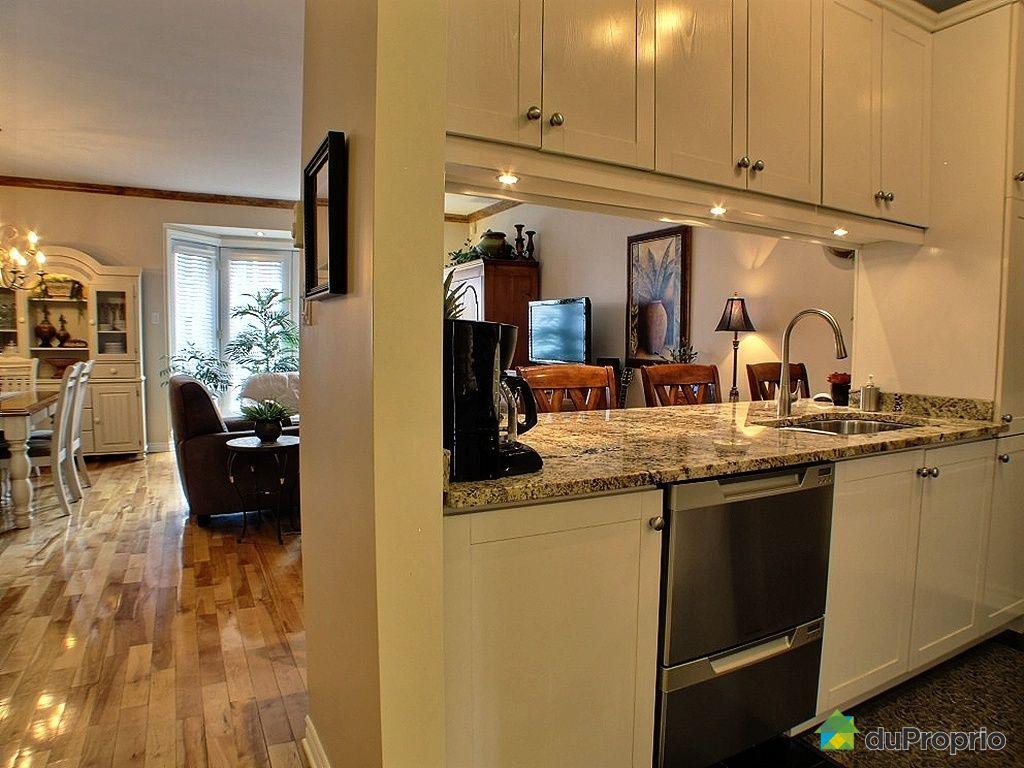 Condo vendu montr al immobilier qu bec duproprio 326374 - Cuisine aire ouverte ...