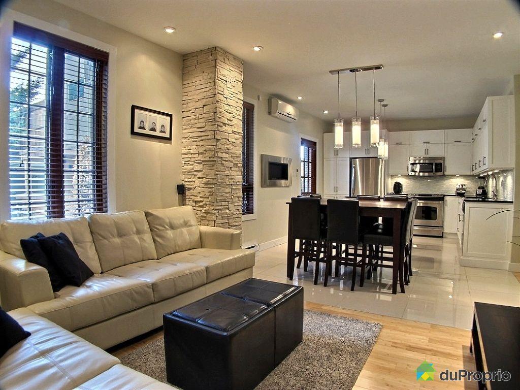 Duplex vendu montr al immobilier qu bec duproprio 395605 for Couleur cuisine salon air ouverte