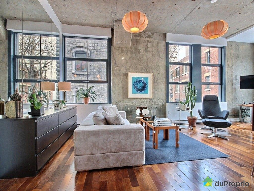Loft vendu montr al immobilier qu bec duproprio 482836 for Appartement avec piscine montreal