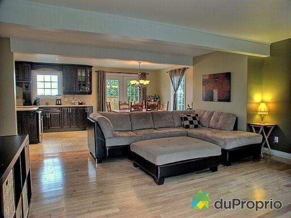 Maison vendu mercier immobilier qu bec duproprio 215287 - Salon cuisine aire ouverte ...