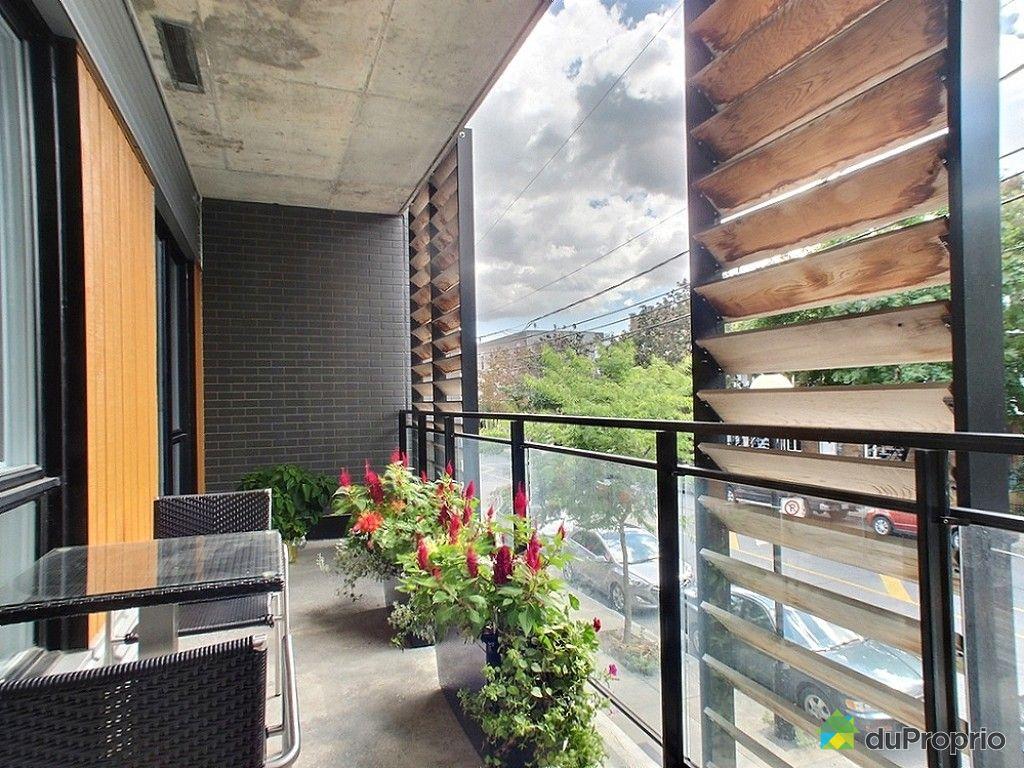 Condo vendu montr al immobilier qu bec duproprio 548164 for Zen style balcony