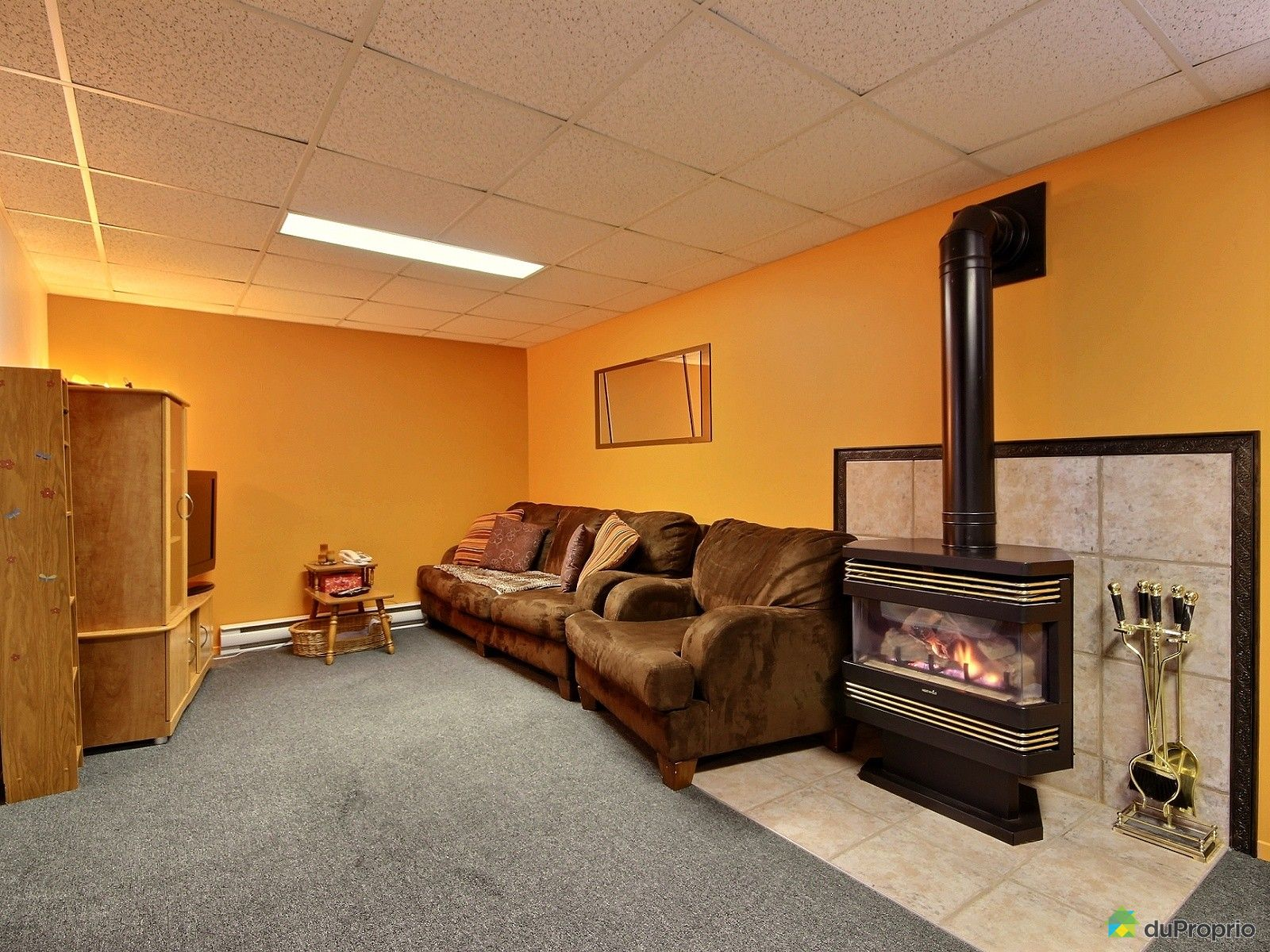 House sold in arvida duproprio 560637 - Basement living ...