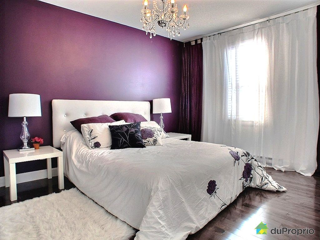 d coration chambre en mauve. Black Bedroom Furniture Sets. Home Design Ideas