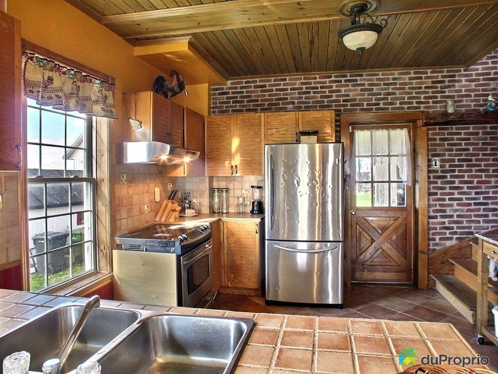 Fermette vendu st bonaventure immobilier qu bec duproprio 81862 - Cuisine style fermette ...