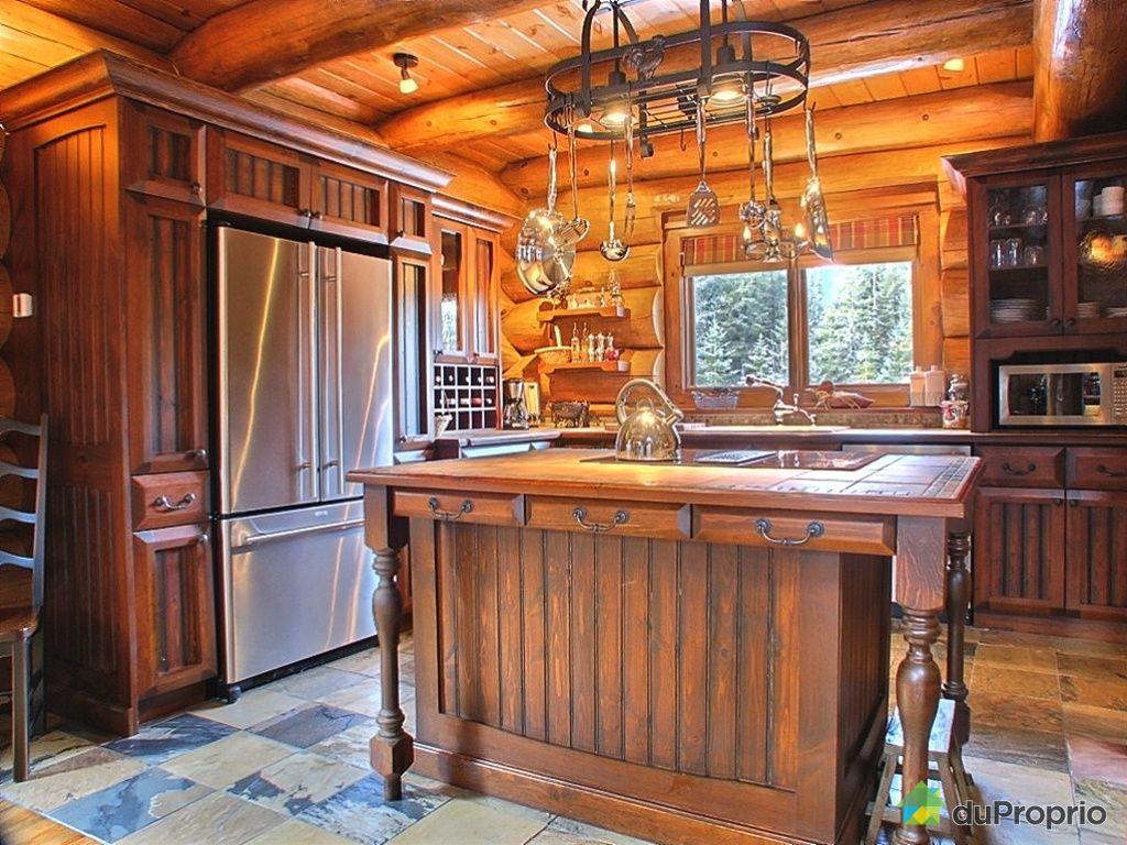 Constructeur maison bois rond quebec for Cuisine quebec