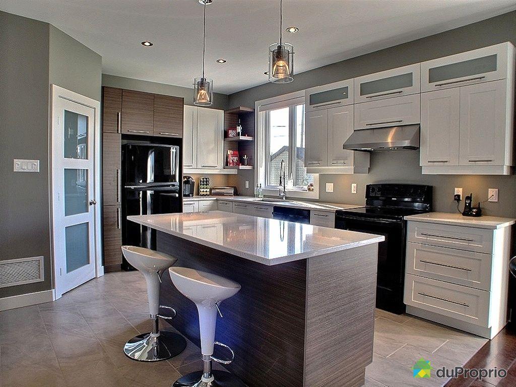 Maison vendu st janvier immobilier qu bec duproprio 362392 - Cuisine aire ouverte ...
