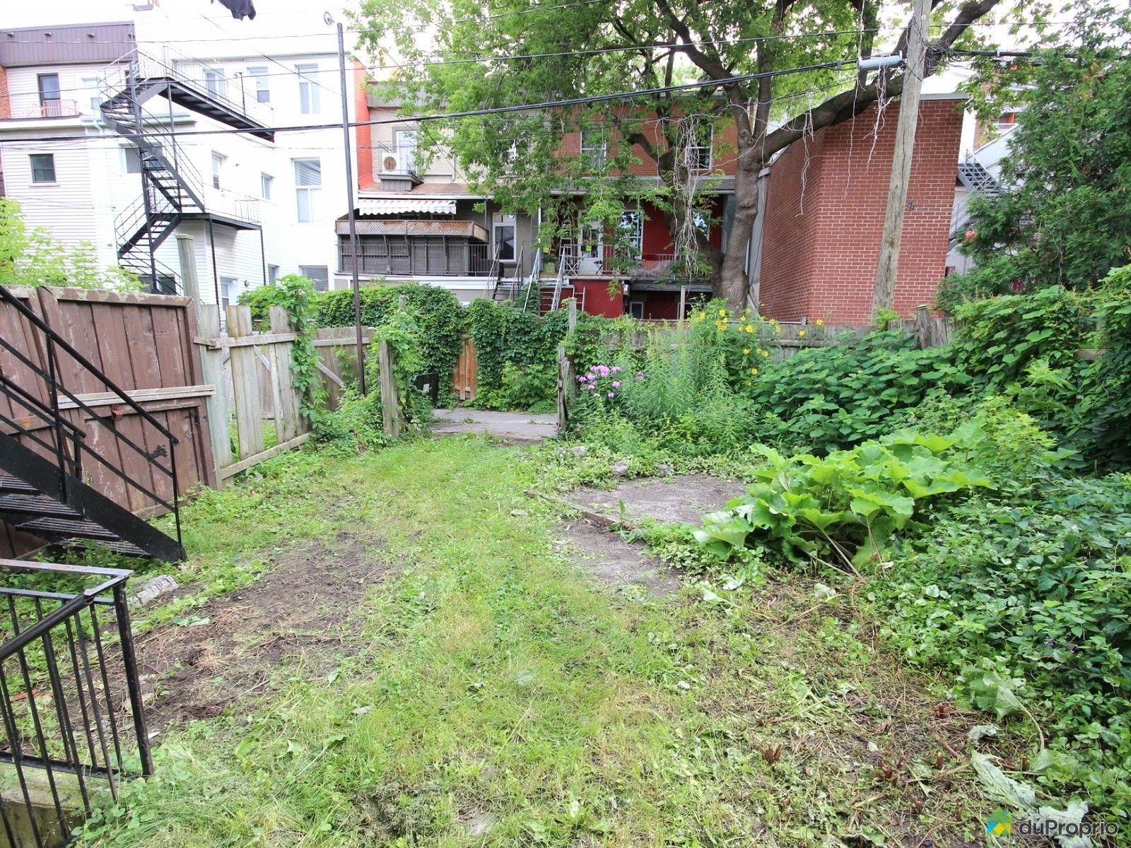 Duplex vendre montr al 1609 1611 rue saint christophe for Piscine exterieur montreal