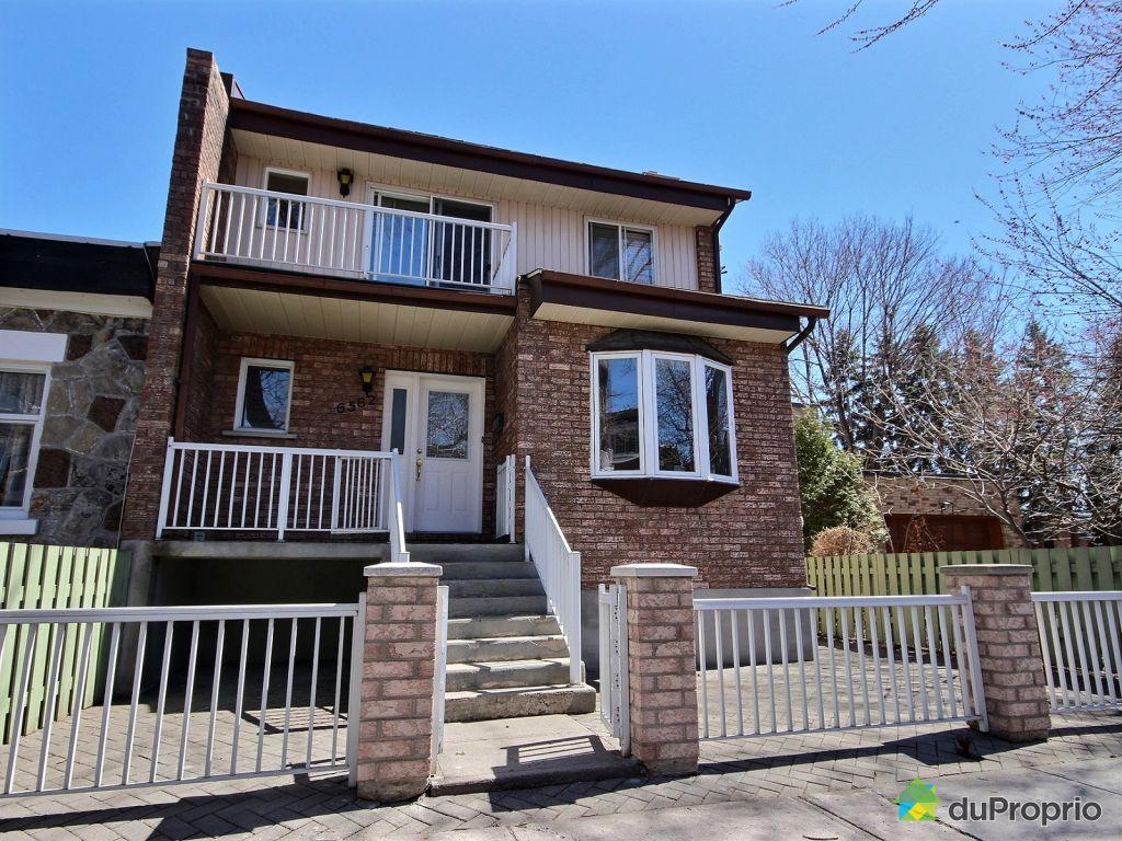 Jumel vendu montr al immobilier qu bec duproprio 601348 for Achat maison montreal canada