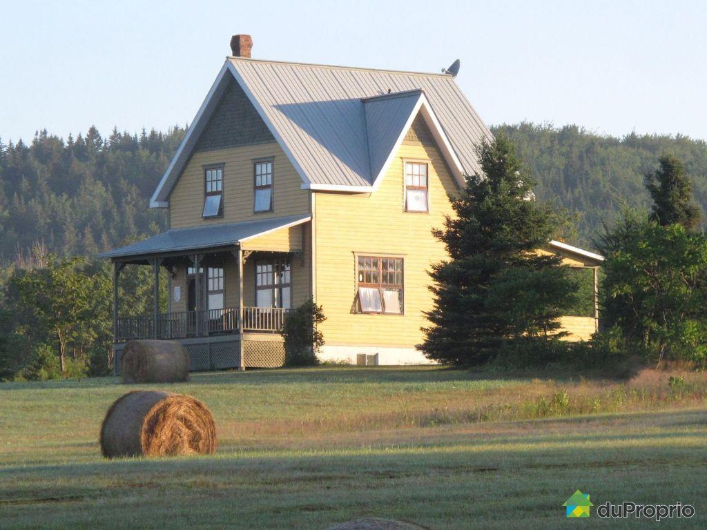 Maison vendre st fortunat 150 chemin du 6e rang for Exterieur maison campagne