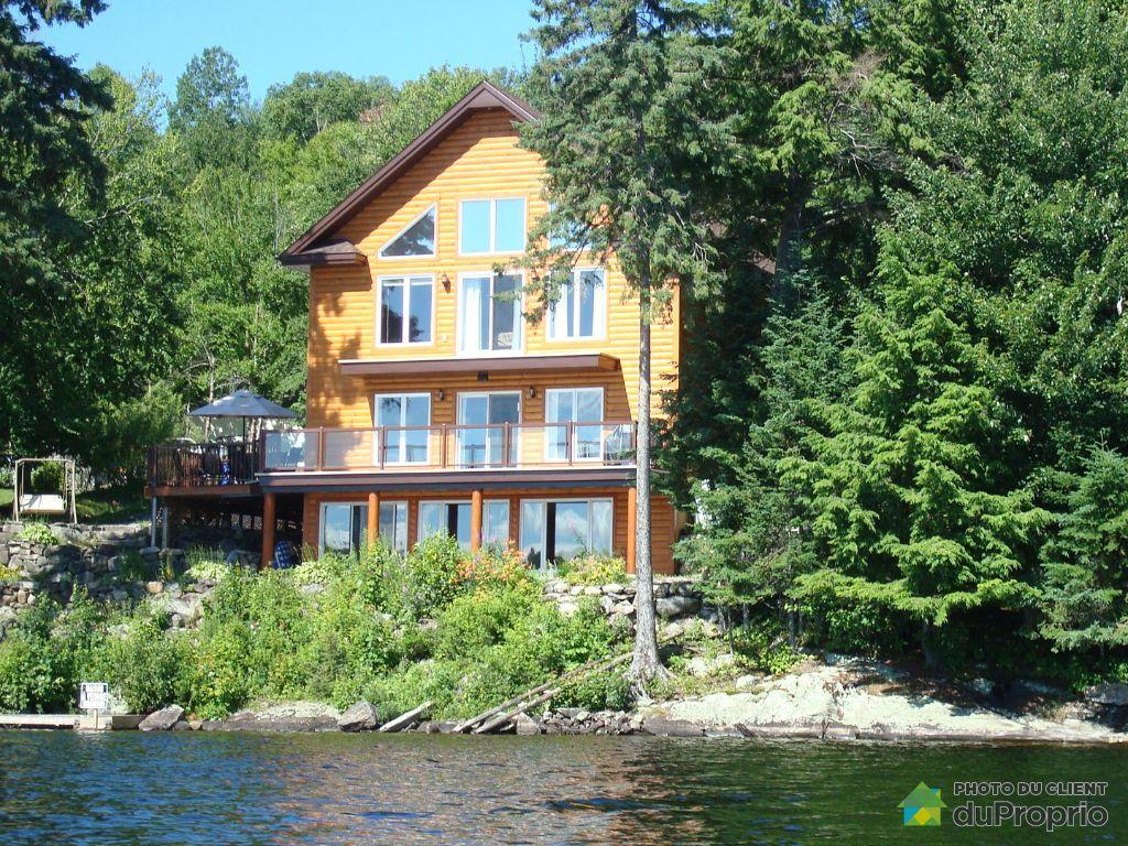 chalet vendre la macaza 1414 chemin du lac chaud immobilier qu bec duproprio 703426. Black Bedroom Furniture Sets. Home Design Ideas