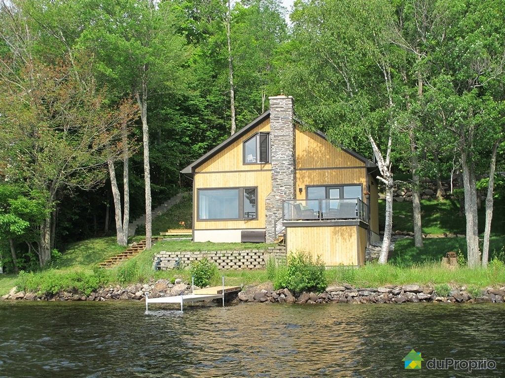 Chalet En Bois A Vendre : Small Waterfront Cottages for Sale