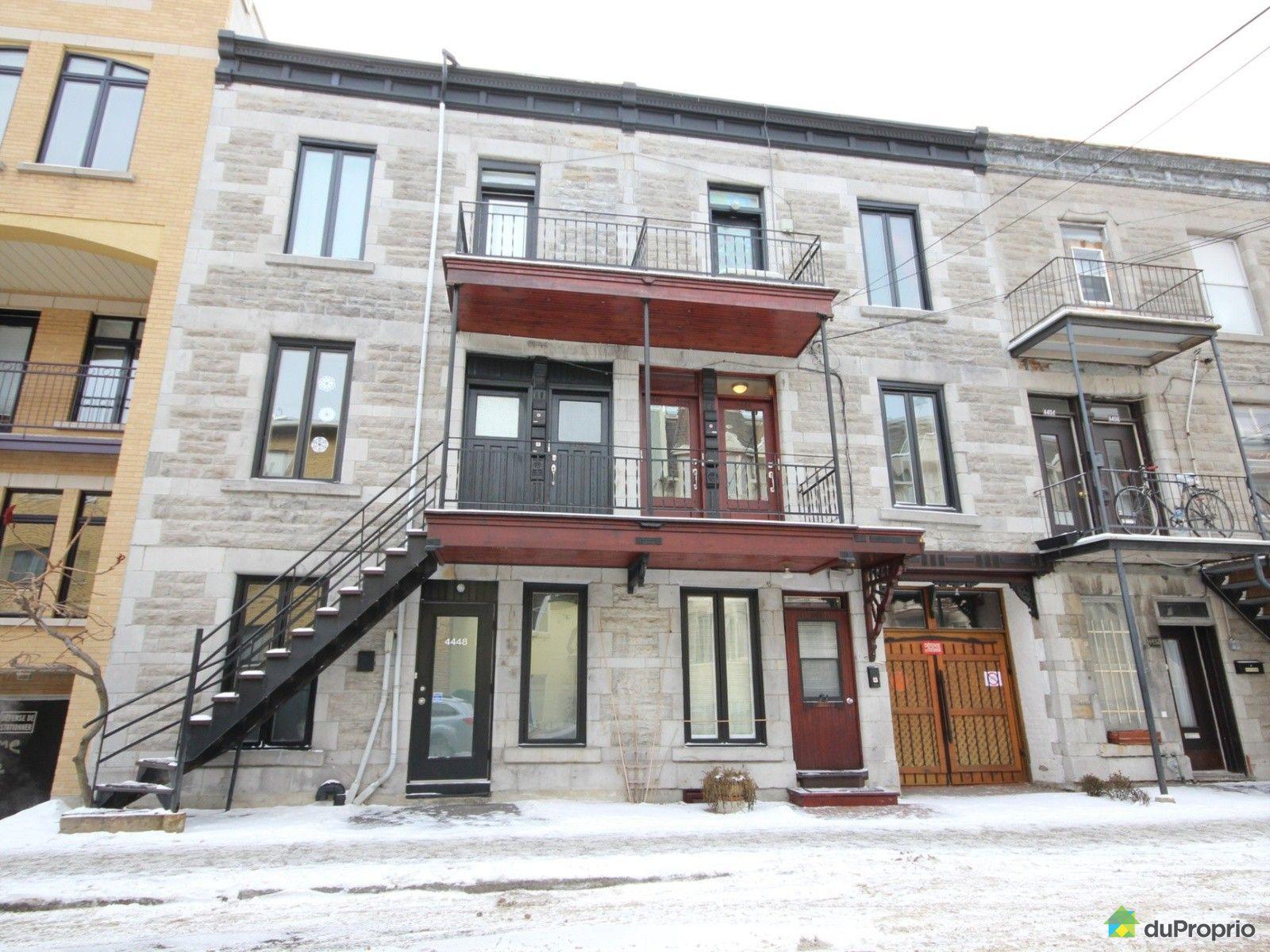 Condo vendre montr al 4446 avenue de l 39 h tel de ville - Appartement meuble plateau mont royal ...