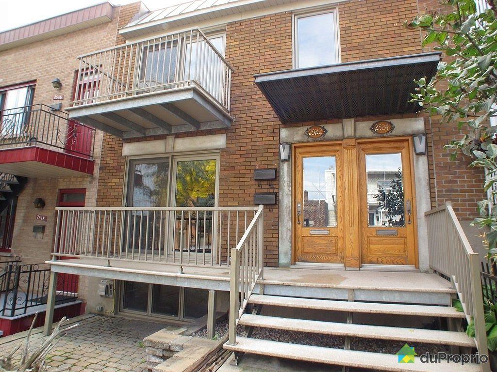 Duplex vendu montr al immobilier qu bec duproprio 368254 - Atelier a vendre montreal ...