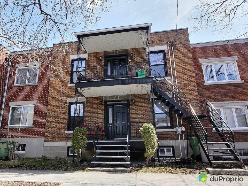 Duplex vendu montr al immobilier qu bec duproprio 697174 for Achat maison montreal canada