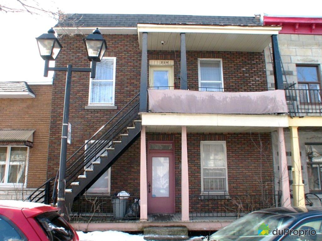 duplex vendu montr al immobilier qu bec duproprio 243270. Black Bedroom Furniture Sets. Home Design Ideas