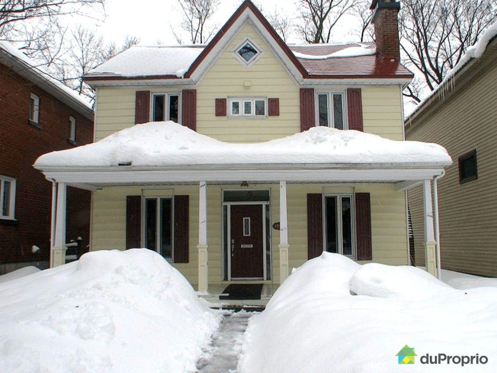 Maison Vendu Montr Al Immobilier Qu Bec Duproprio 240169