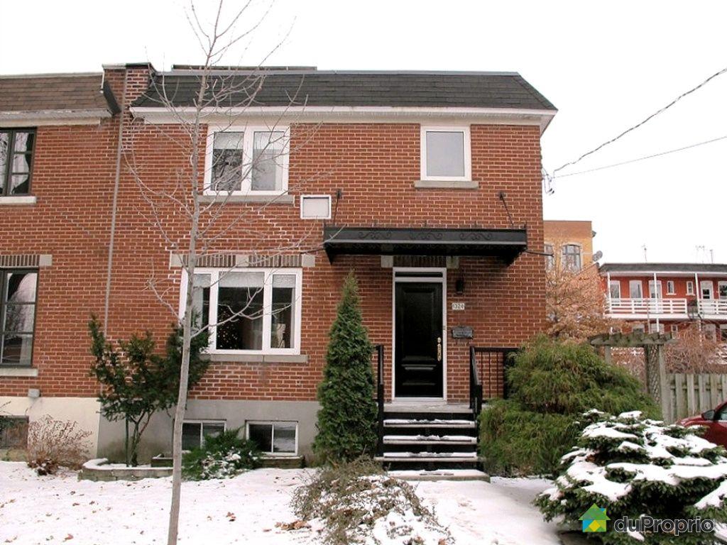 Maison vendu montr al immobilier qu bec duproprio 385482 for Acheter maison montreal canada