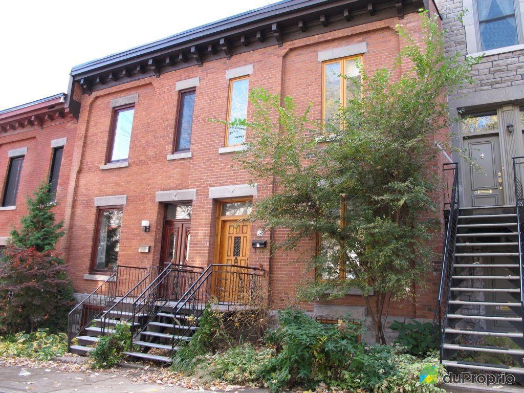 Maison vendu montr al immobilier qu bec duproprio 370590 for Achat maison montreal canada
