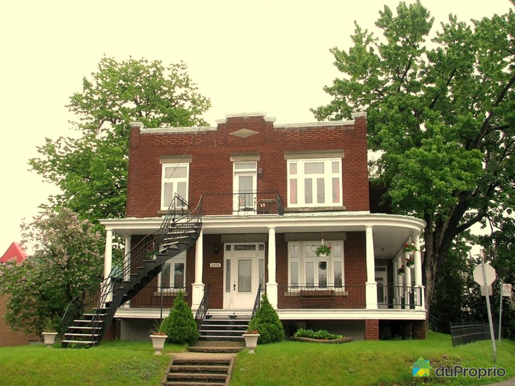 Maison vendu montr al immobilier qu bec duproprio 260042 for Achat maison montreal canada