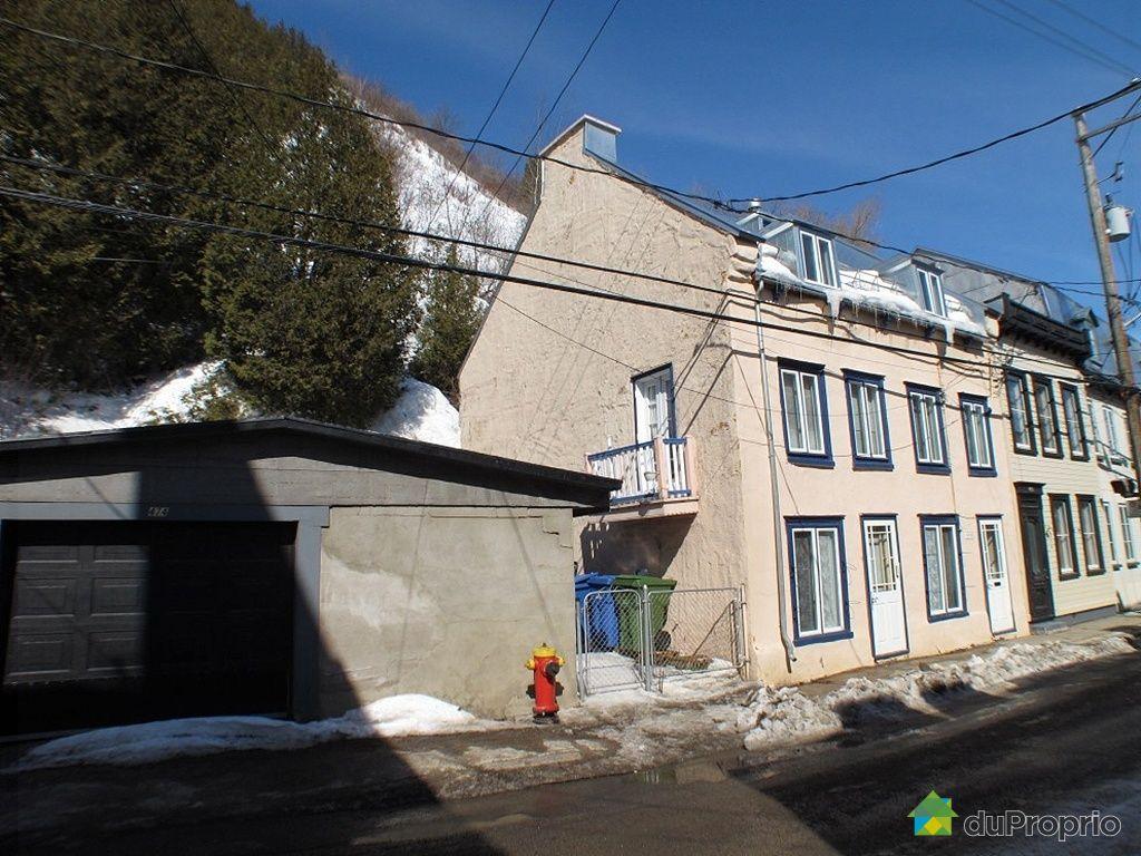 Maison vendre vieux qu bec 470 rue champlain for Acheter maison quebec