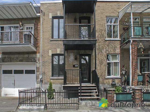 Maison vendu montr al immobilier qu bec duproprio 129360 for Extension maison quebec