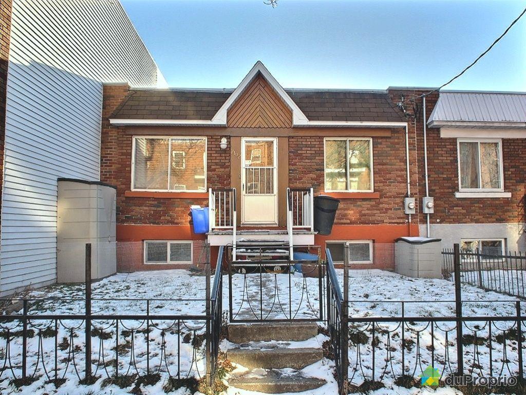 Maison vendu montr al immobilier qu bec duproprio 385393 for Acheter une maison a montreal