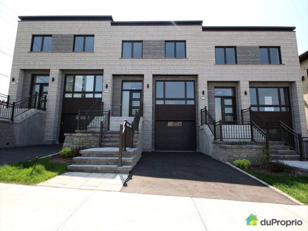 Maison neuve vendre montr al 3844 rue monselet for Achat maison neuve ville de quebec