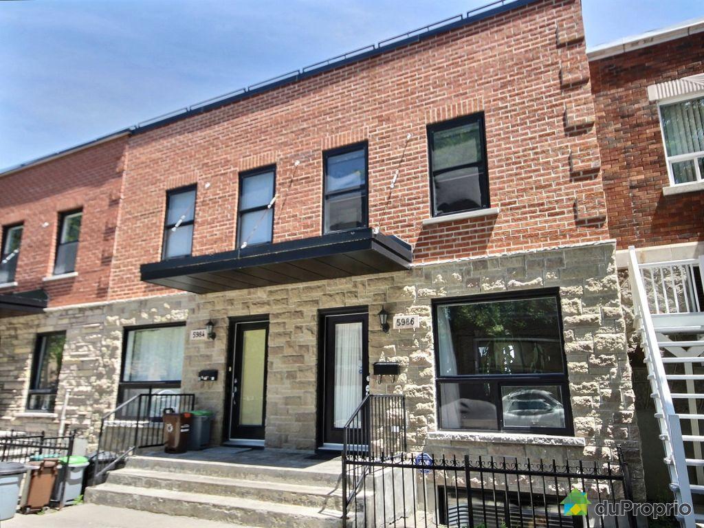 Maison vendre montr al 5986 rue eadie immobilier for Acheter une maison a montreal
