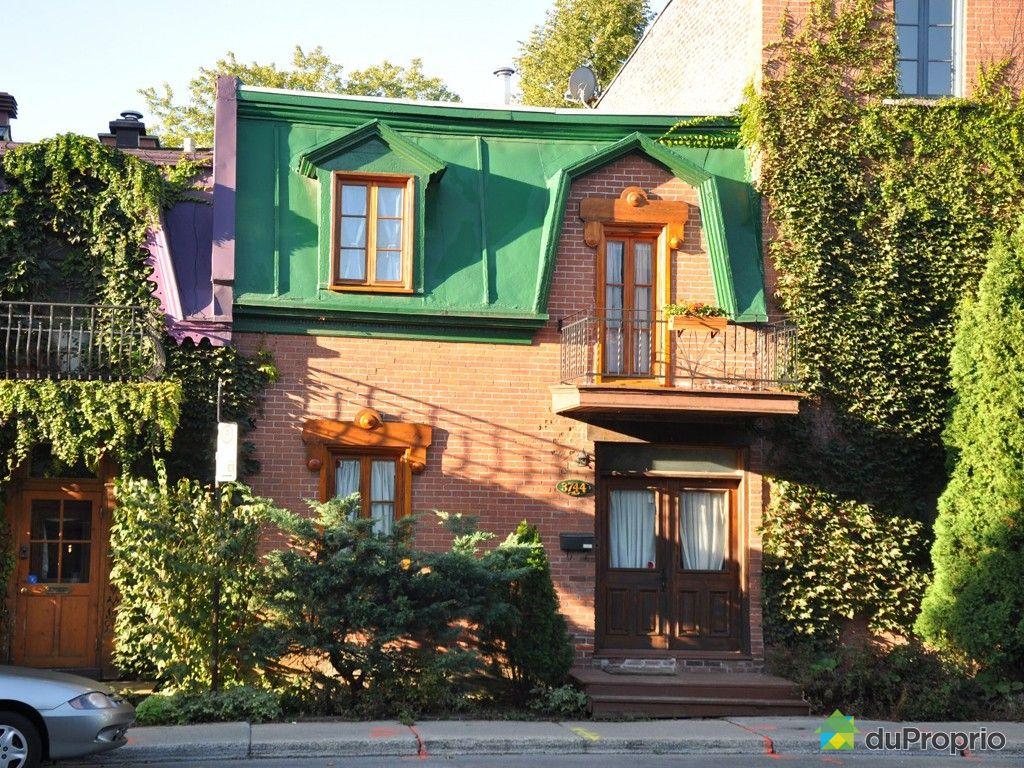 Maison vendu montr al immobilier qu bec duproprio 353815 for Achat maison montreal canada