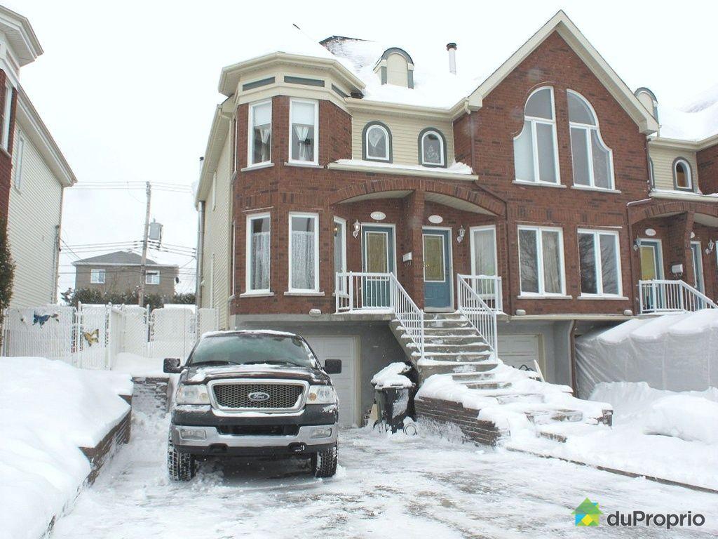 Maison vendu montr al immobilier qu bec duproprio 399840 for Acheter maison montreal canada