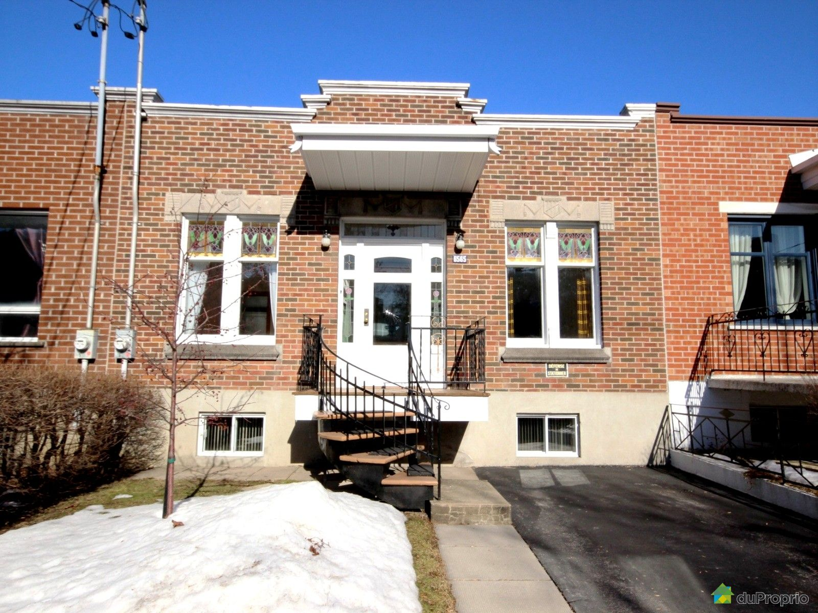 Maison vendu montr al immobilier qu bec duproprio 664482 for Acheter maison montreal quebec