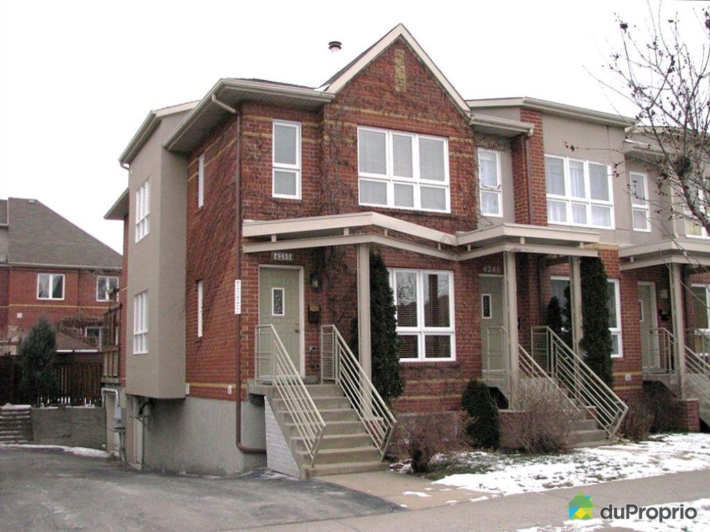 Maison vendu montr al immobilier qu bec duproprio 303261 for Alarme maison montreal