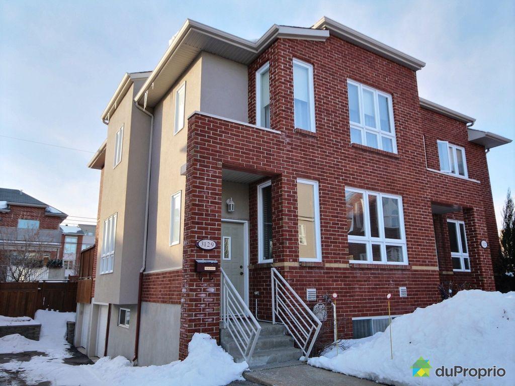 Maison vendu montr al immobilier qu bec duproprio 585378 for Achat maison montreal canada