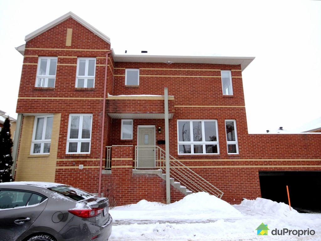 Maison vendu montr al immobilier qu bec duproprio 680844 for Achat maison montreal canada