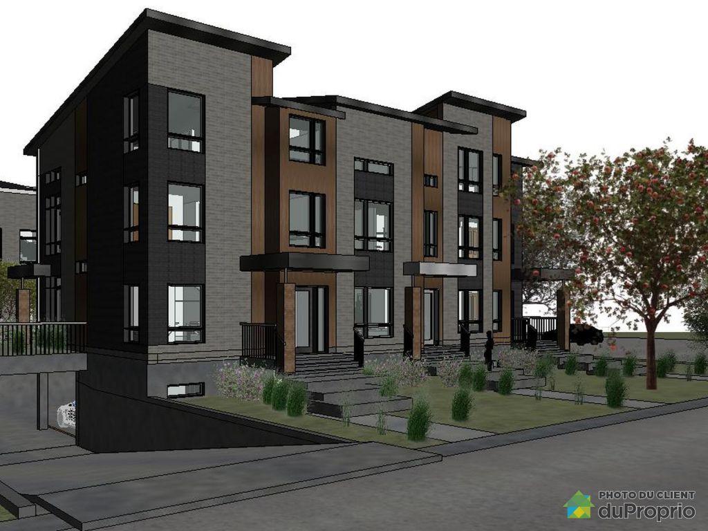 Maison neuve vendre st lambert 85 rue sainte h l ne immobilier qu bec d - Combien coute une facade de maison ...