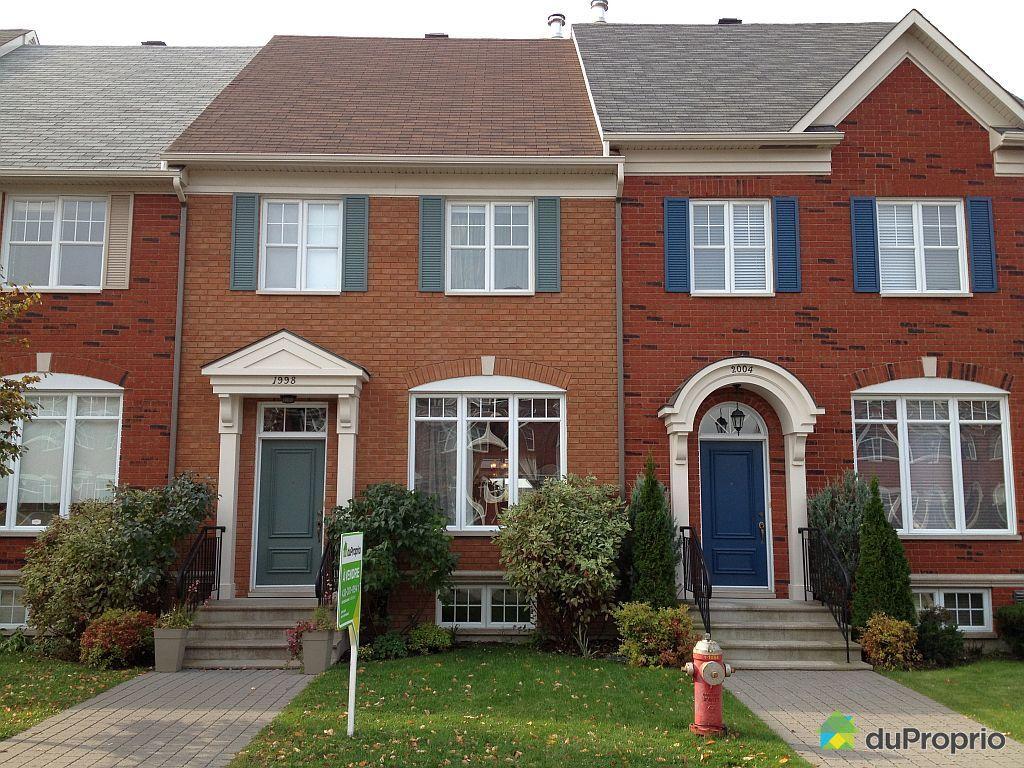 Maison vendu montr al immobilier qu bec duproprio 465404 for Alarme maison montreal