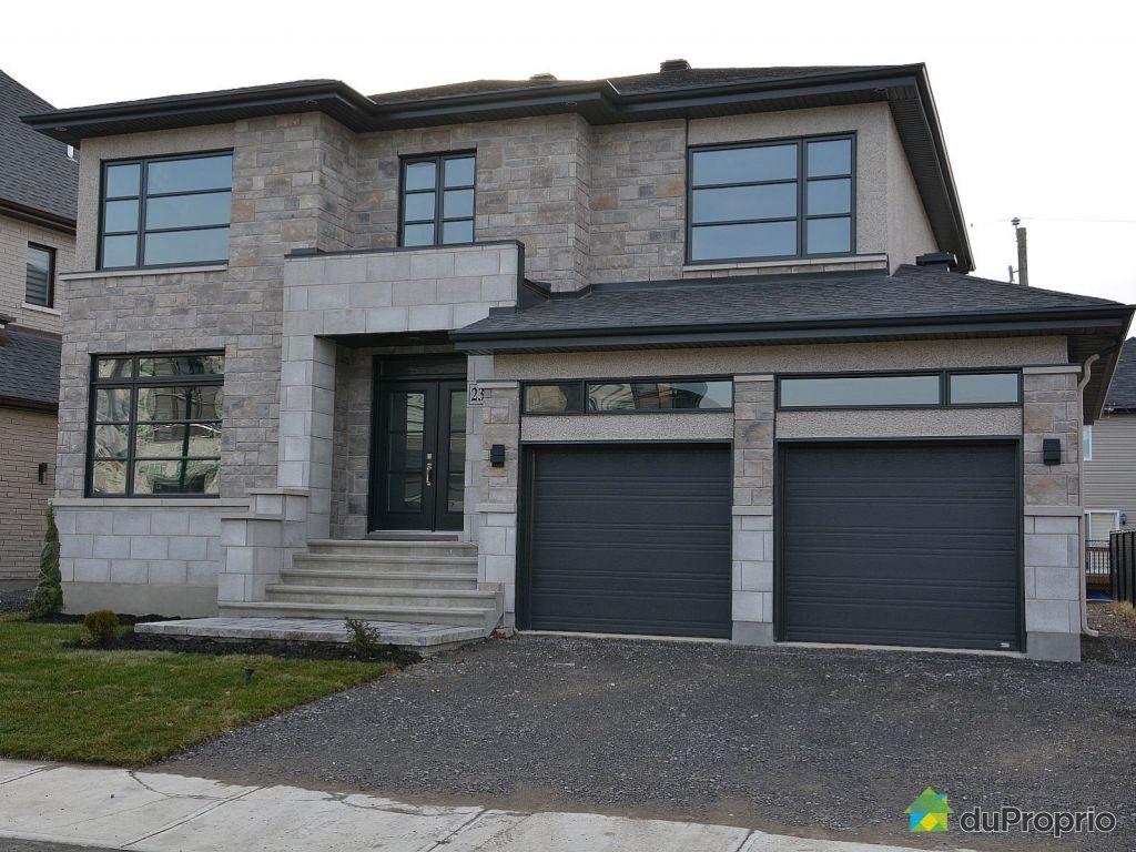 Maison neuve vendre chomedey 2362 rue magloire hotte immobilier qu bec - Combien coute une facade de maison ...