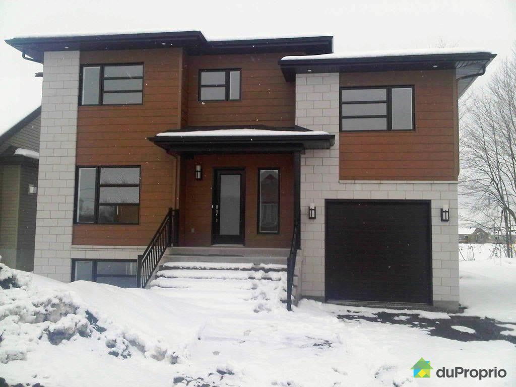 Maison neuve vendu contrecoeur immobilier qu bec for Exterieur maison neuve