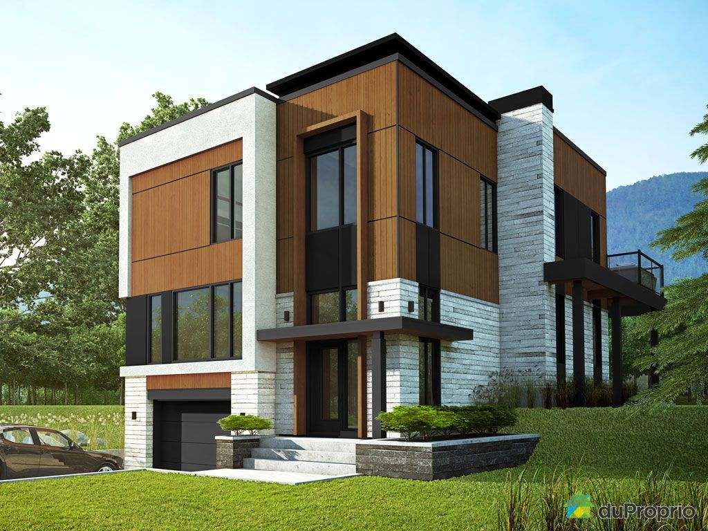 Construction maison contemporaine quebec - Facade architecture maison ...