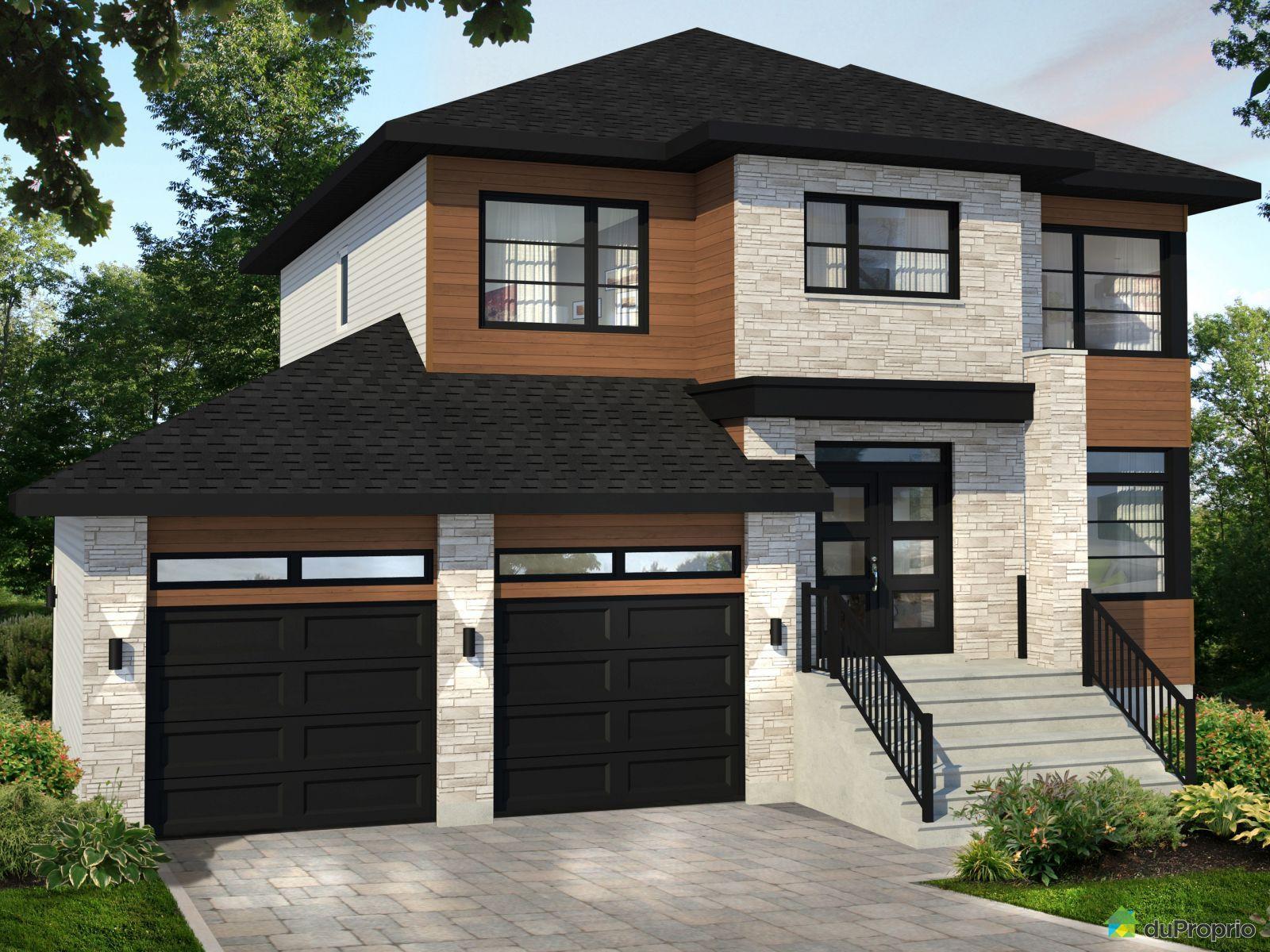 Le bellini garage double construire par construction f for Maison mobile neuve