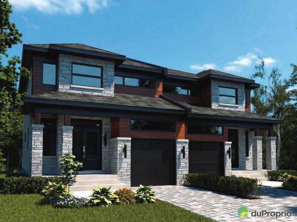 Maison neuve vendu montr al immobilier qu bec duproprio - Plan de maison jumelee ...