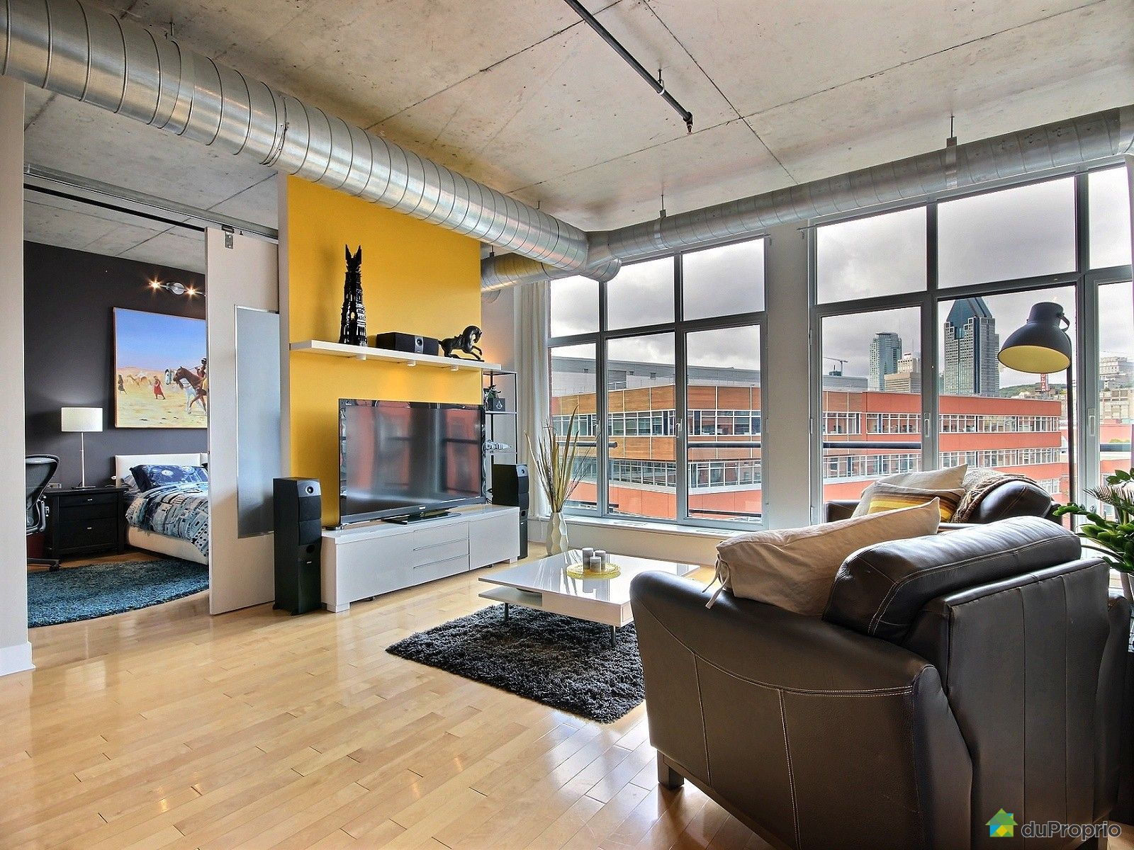 Condo sold in montreal duproprio 540569 for La downtown condo for sale