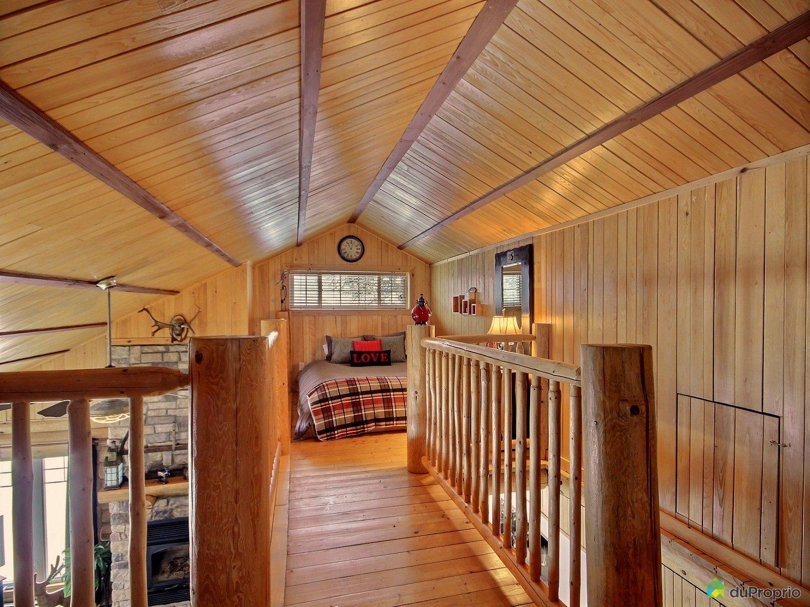 Chalet en bois a vendre for Chalet en bois avec mezzanine