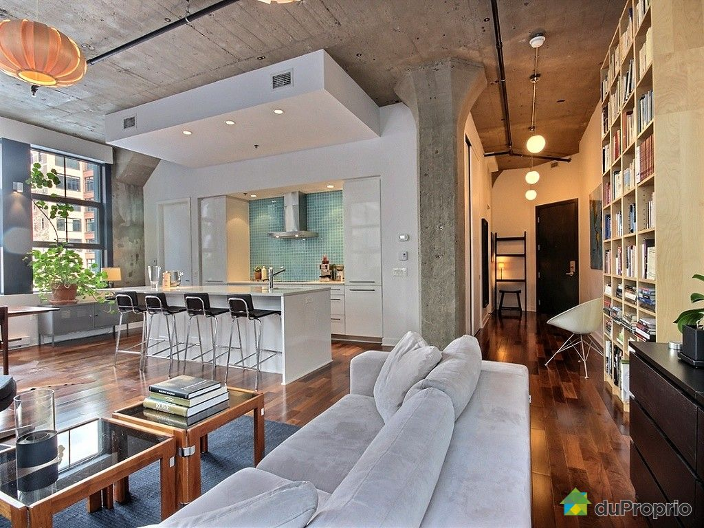 Loft sold in montreal duproprio 482836 for Open concept loft