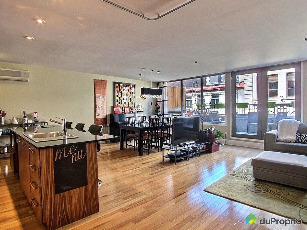 Loft sold in montreal duproprio 607757 for Open concept loft