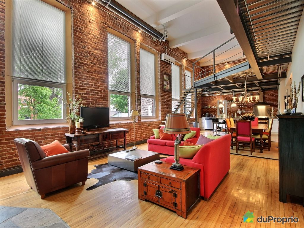 Loft sold in montreal duproprio 615451 for Open concept loft